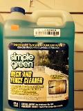 Rental store for DECK   FENCE CLEANER, SIMPLE GREE in Canton CT