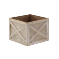 Rental store for RUSTIC WOOD PLANTER 16 X16 X12 in Canton CT