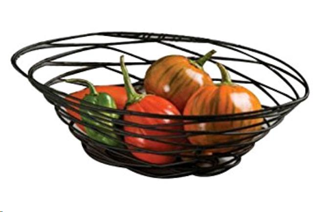 Where to find BREAD BASKETS, OVAL BLACK WIRE, 9X6 in Canton